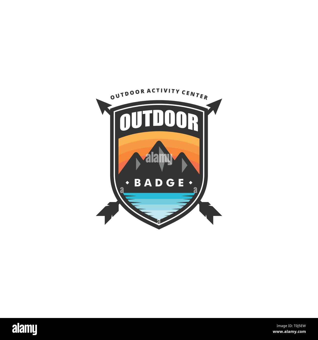Outdoor Badge Concept illustration vector template. Suitable for Creative Industry, Multimedia, entertainment, Educations, Shop, and any related busin - Stock Vector