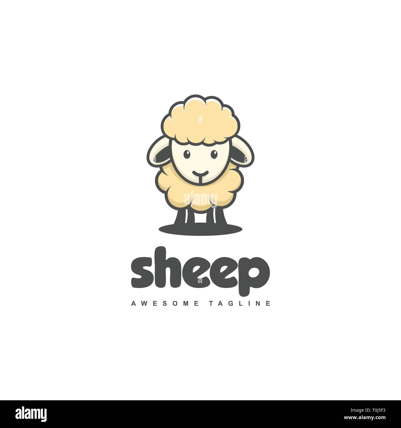 Sheep Concept illustration vector template. Suitable for Creative Industry, Multimedia, entertainment, Educations, Shop, and any related business - Stock Image