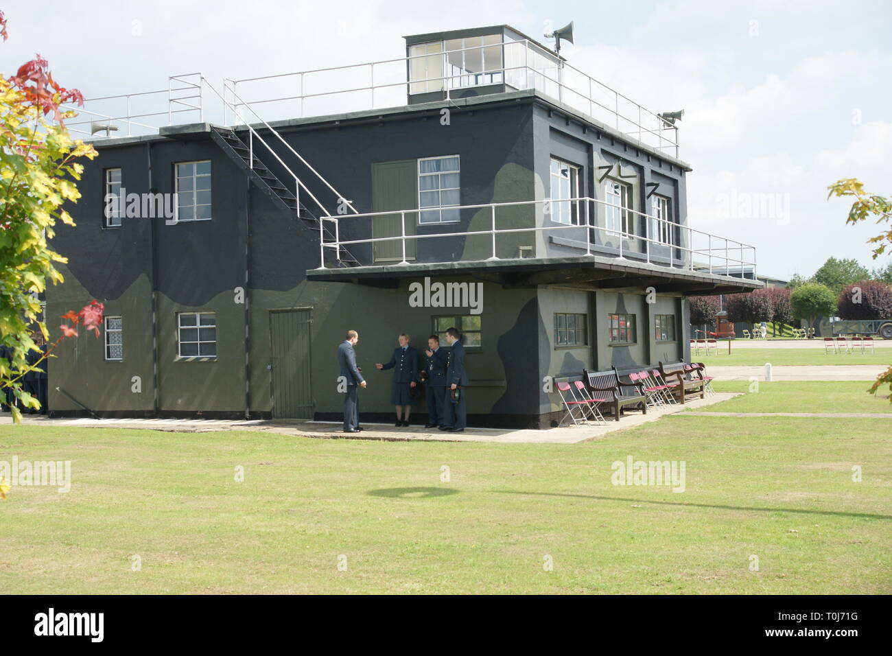 world war two airfield control tower - Stock Image