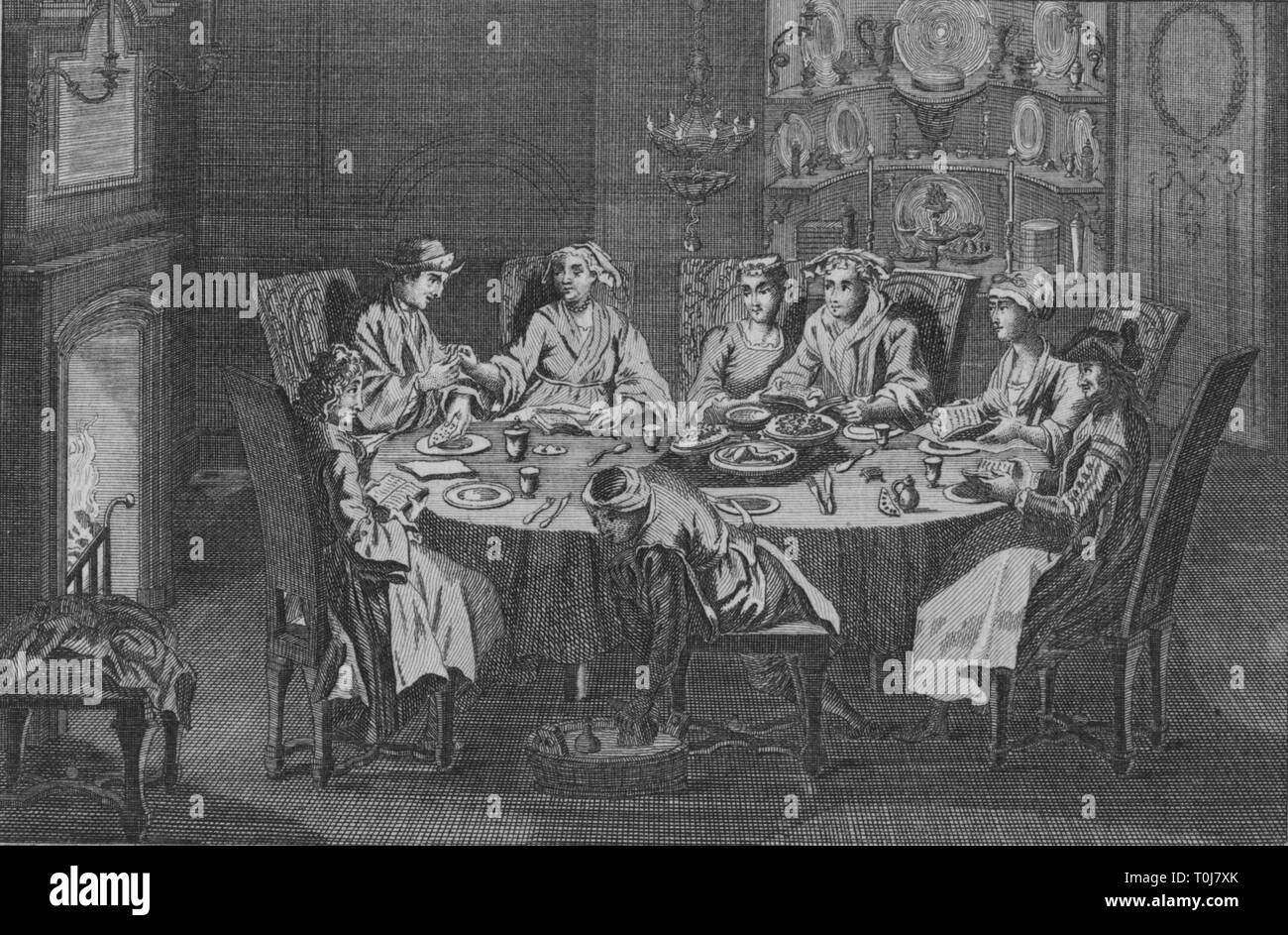 'The Passover of the Portuguese Jews', c1730s. Creator: Unknown. - Stock Image