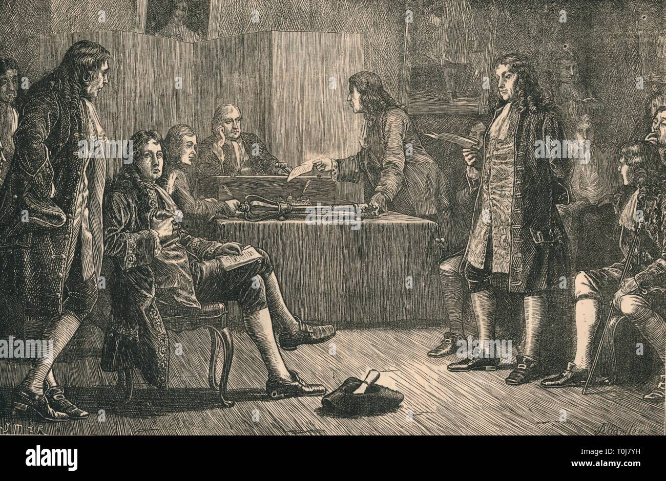 Physics at the Royal Society during Newtons presidency