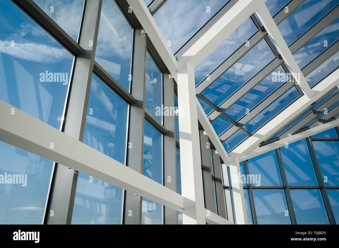 Steel And Glass Roof Stock Photos Steel And Glass Roof Stock