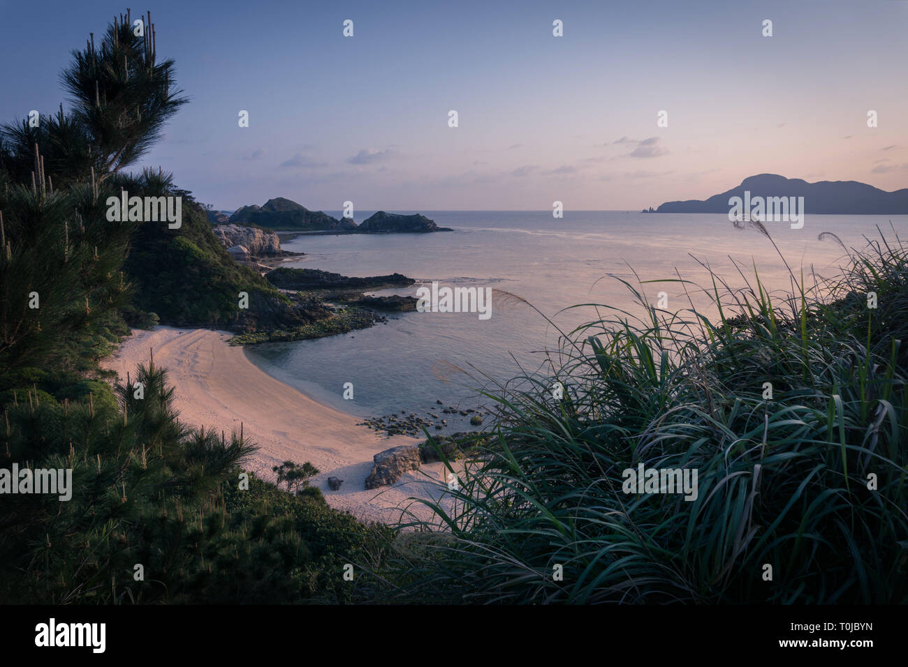 Evening on Akajima Island in the Kerama Islands, Okinawa, Japan - Stock Image