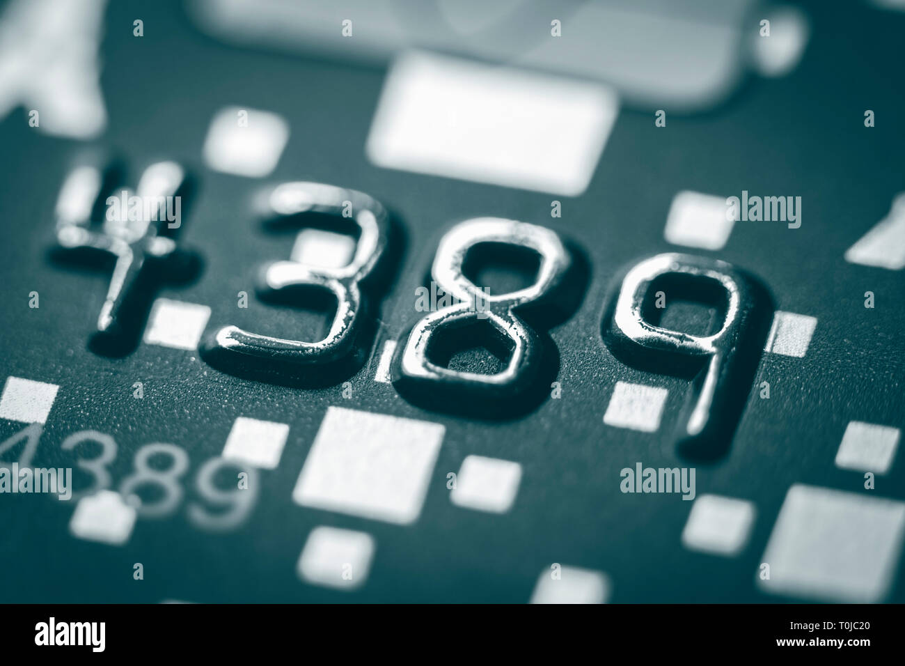 Close-up picture of a credit cards as a background. Macro shot , Selective focus. - Stock Image