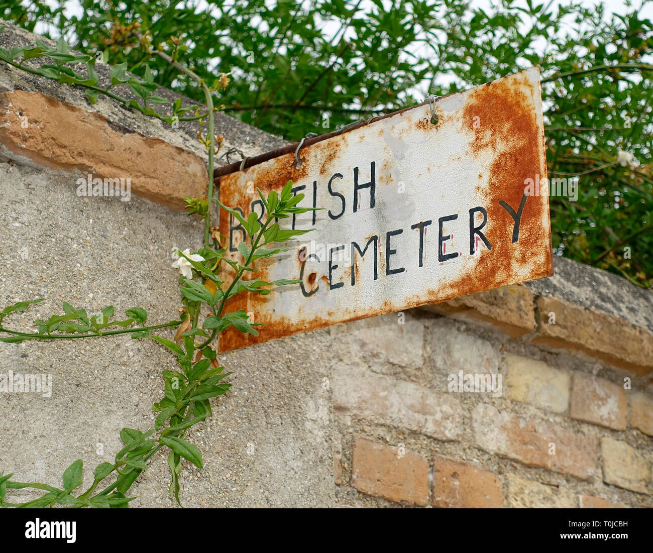 British Cemetery, Corfu, Greece - Stock Image