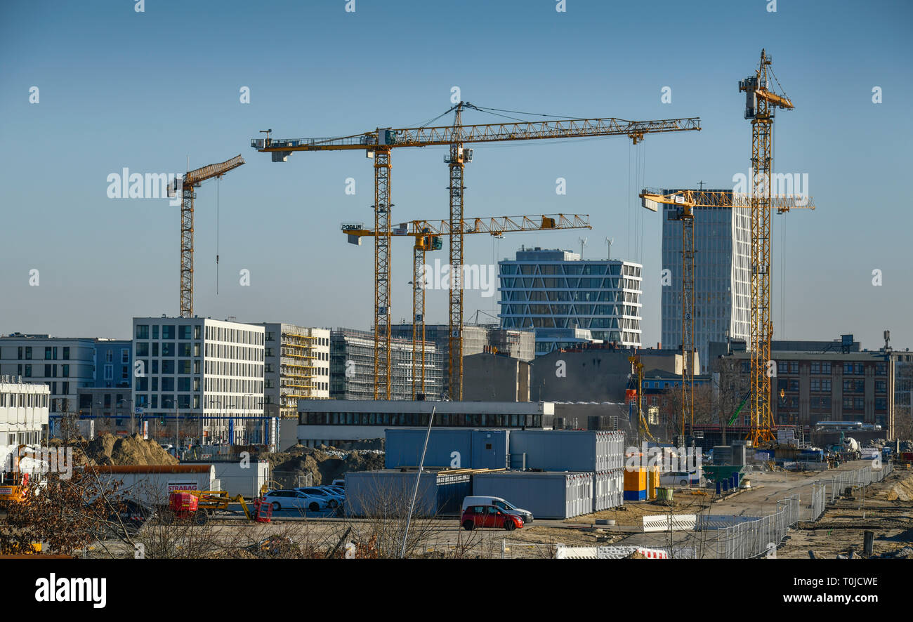 New building area, Heidestrasse, middle, Berlin, Germany, Neubaugebiet, Heidestraße, Mitte, Deutschland - Stock Image