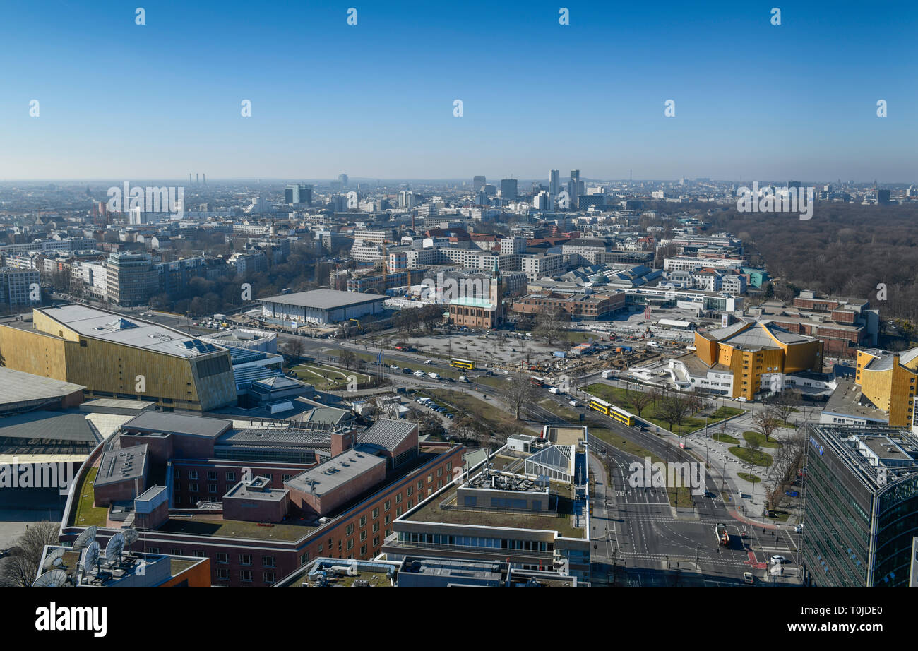 Town panorama, Berlin, Germany, Stadtpanorama, Deutschland - Stock Image
