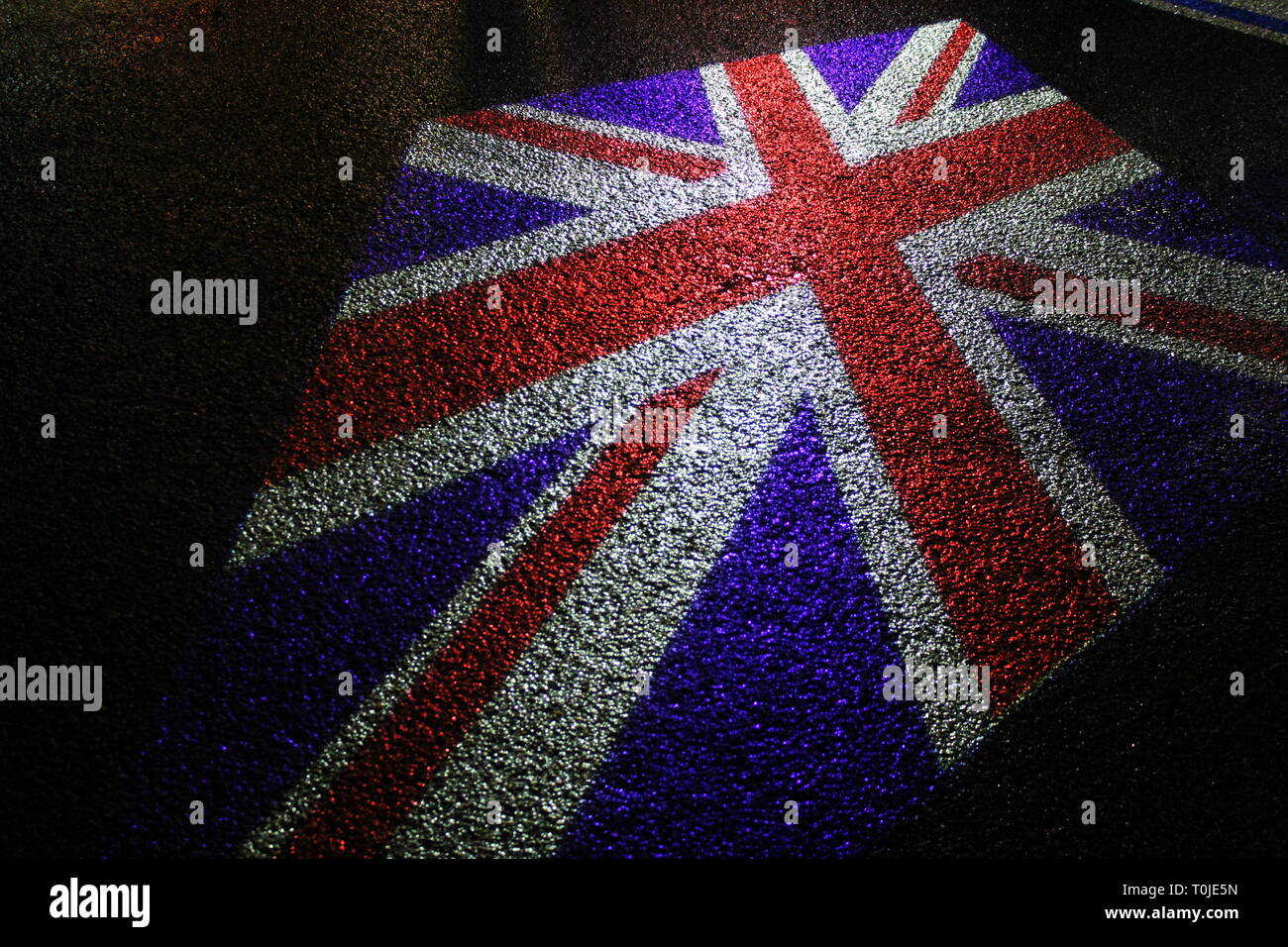 british flag on the ground - Stock Image
