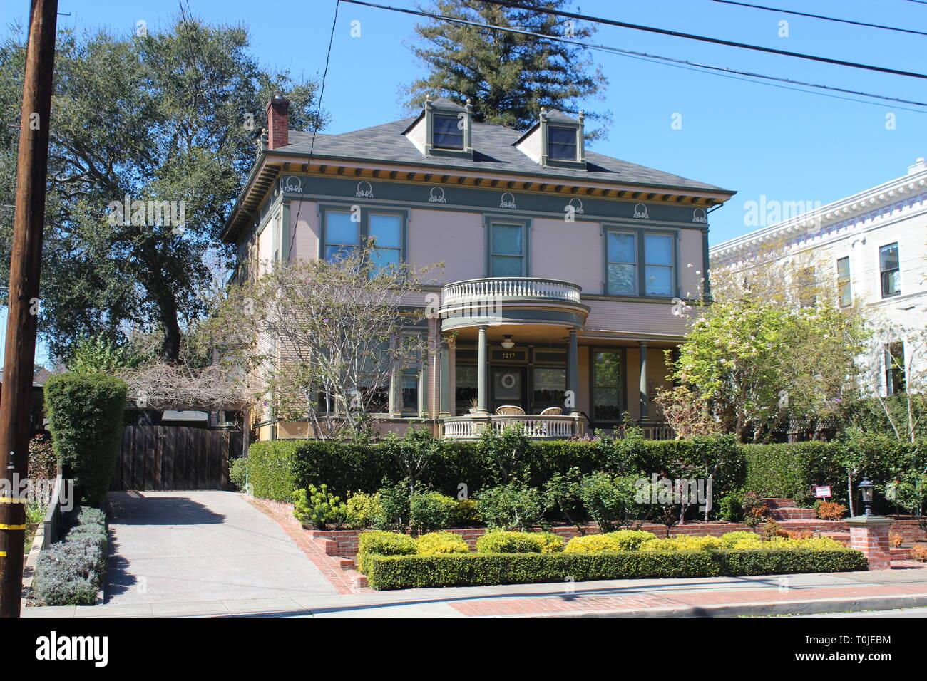 Colonial Revival House, built 1895, Alameda, California - Stock Image