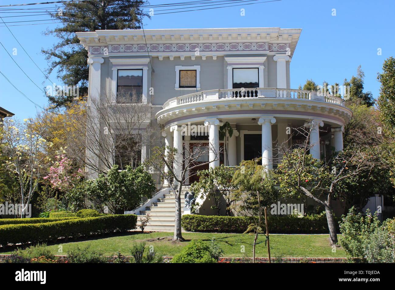Classical Revival House, built 1896, Alameda, California - Stock Image