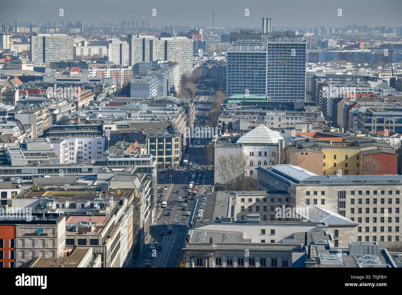 Leipzig street, middle, Berlin, Germany, Leipziger Straße, Mitte, Deutschland - Stock Image