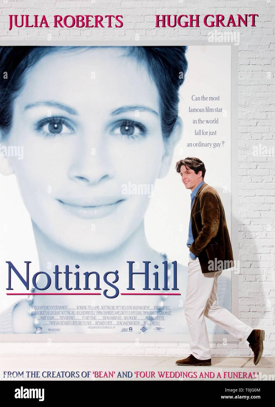 JULIA ROBERTS, HUGH GRANT POSTER, NOTTING HILL, 1999 - Stock Image