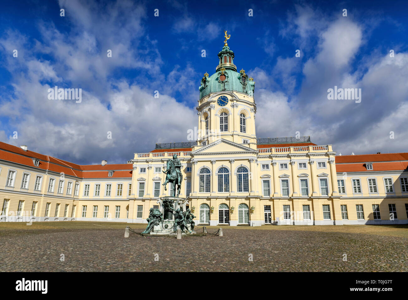 Castle Charlottenburg, chip duration dam, Charlottenburg, Berlin, Germany, Schloss Charlottenburg, Spandauer Damm, Deutschland - Stock Image