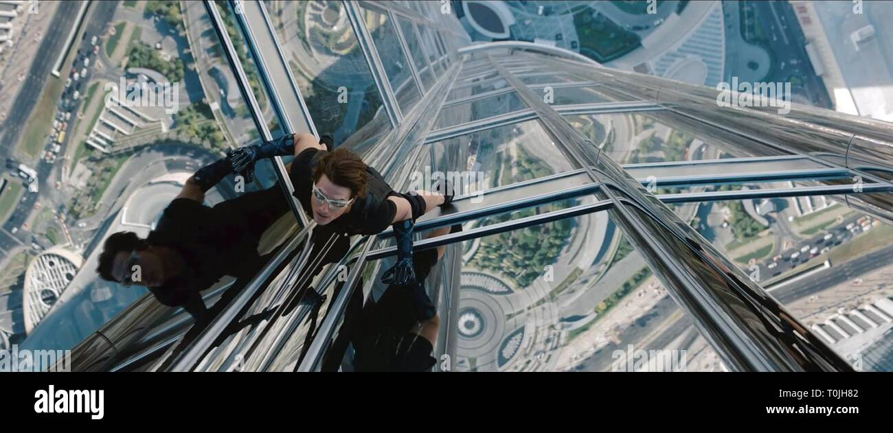 MISSION: IMPOSSIBLE - GHOST PROTOCOL, TOM CRUISE, 2011 - Stock Image