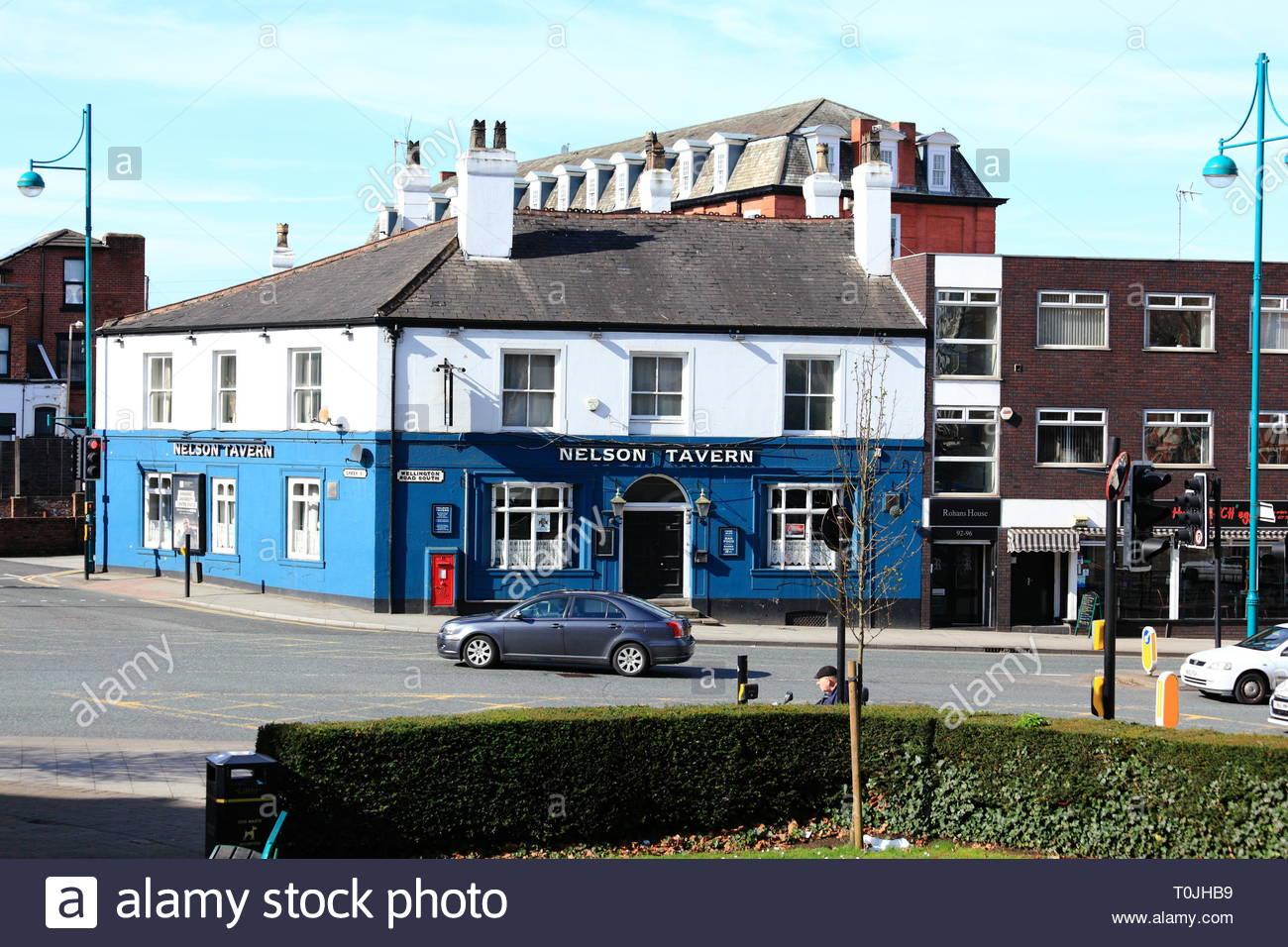 The Nelson Tavern Pub at Stockport UK - Stock Image