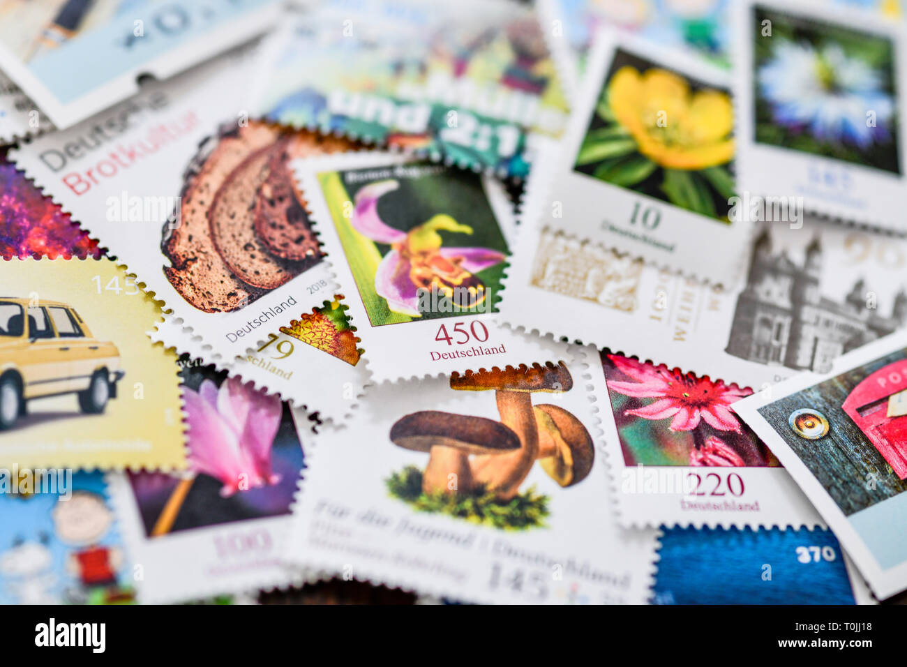 German stamps, Deutsche Briefmarken Stock Photo