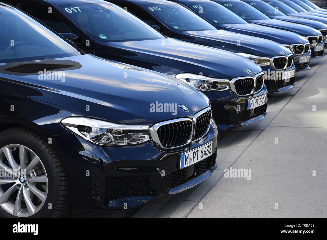 Munich Deutschland 20th Mar 2019 Bmw Cars Cars Are In A Run