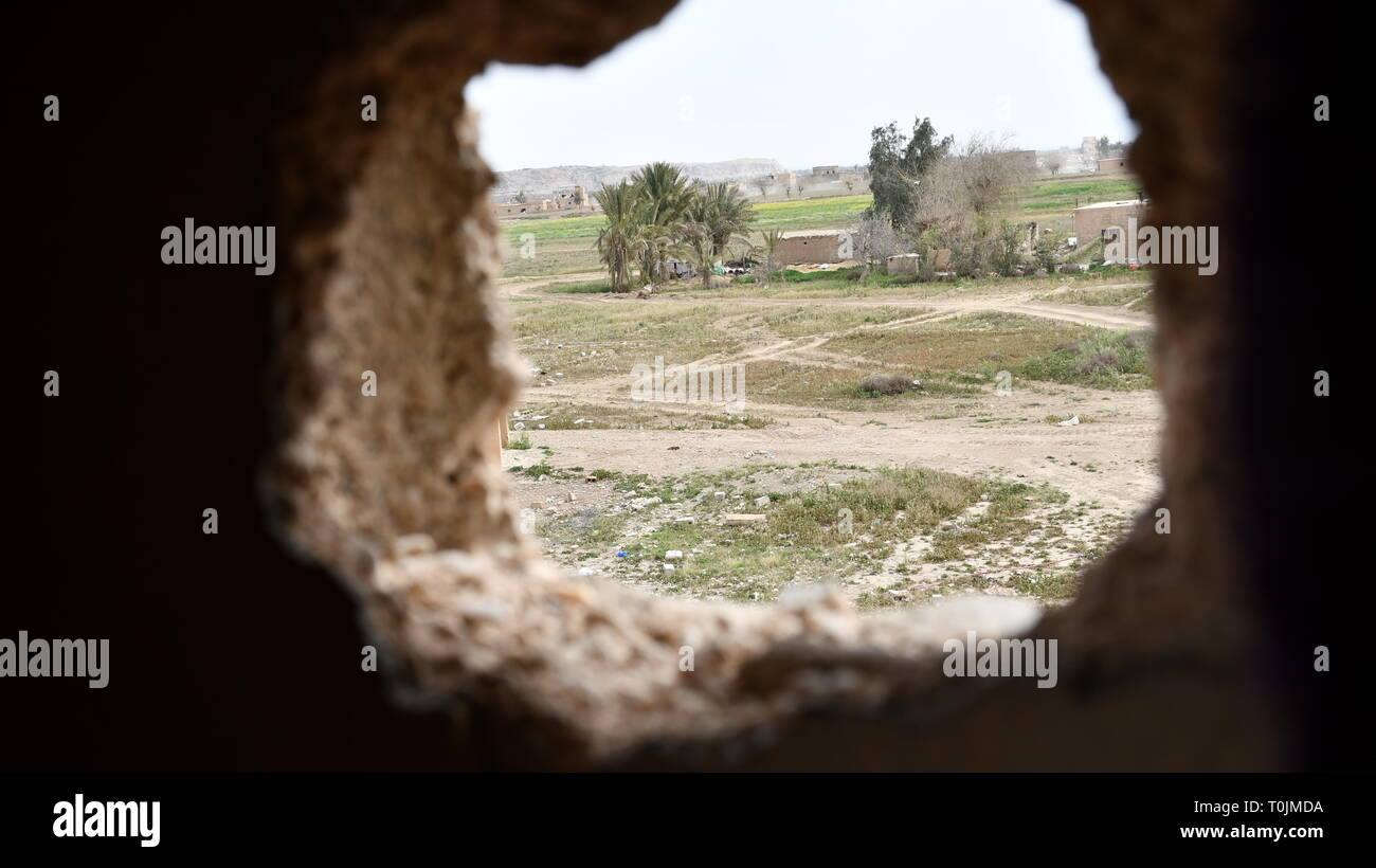 Baghouz, Syria. 20th Mar 2019. Baghouz town has been cleared of ISIS gangs Credit: Baran Mawa/Alamy Live News - Stock Image