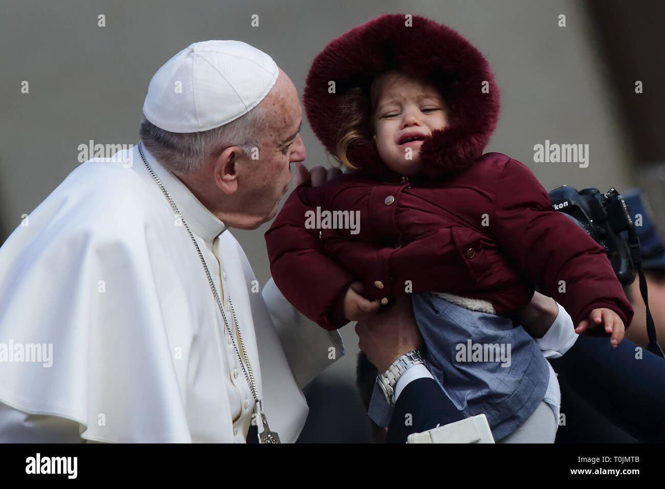 Vatican City, Vatican. 20th Mar 2019. POPE FRANCIS during the wednesday General Audience in St. Peter's Square at the Vatican. Credit Image: © Evandro Inetti via ZUMA Wire) Credit: Evandro Inetti/ZUMA Wire/Alamy Live News - Stock Image