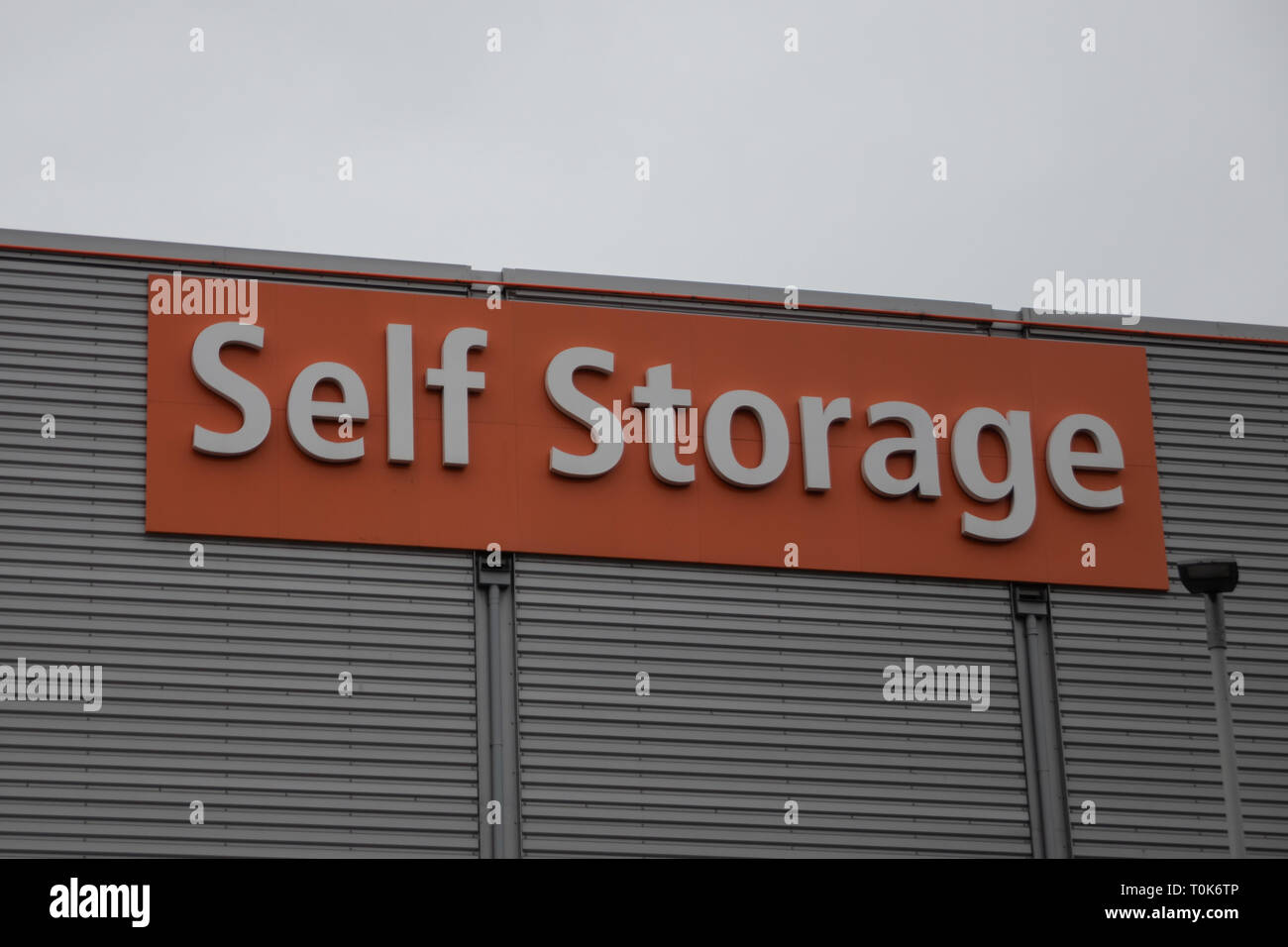 Self storage sign board - Stock Image