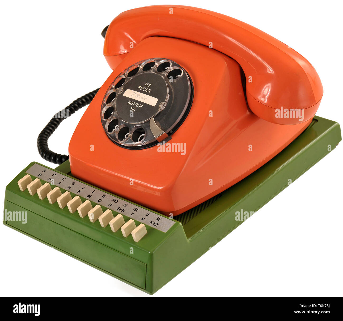 technics, telephones, telephone FeTAp 611-2, Germany, 1974, Additional-Rights-Clearance-Info-Not-Available - Stock Image