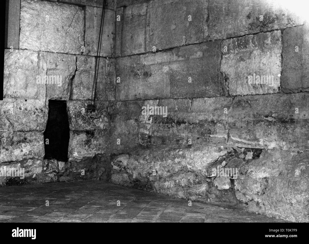 geography / travel, Israel, Nazareth, Church of the Holy Sepulchre, interior view, crusader belfry, 1962, Additional-Rights-Clearance-Info-Not-Available - Stock Image