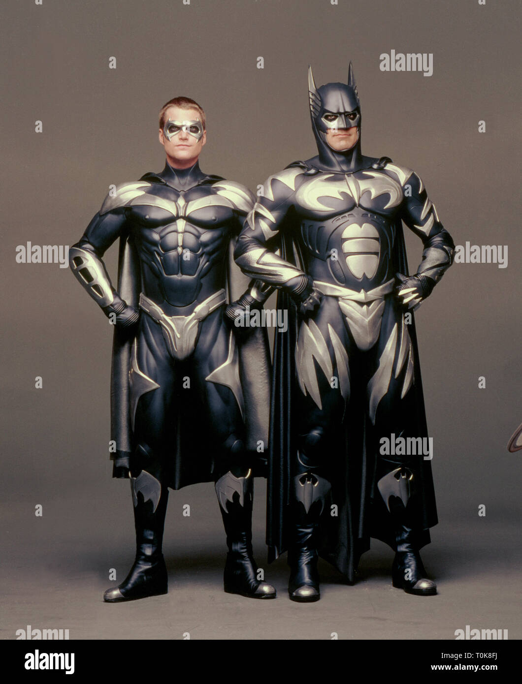 Chris O Donnell George Clooney Batman And Robin 1997 Stock Photo Alamy