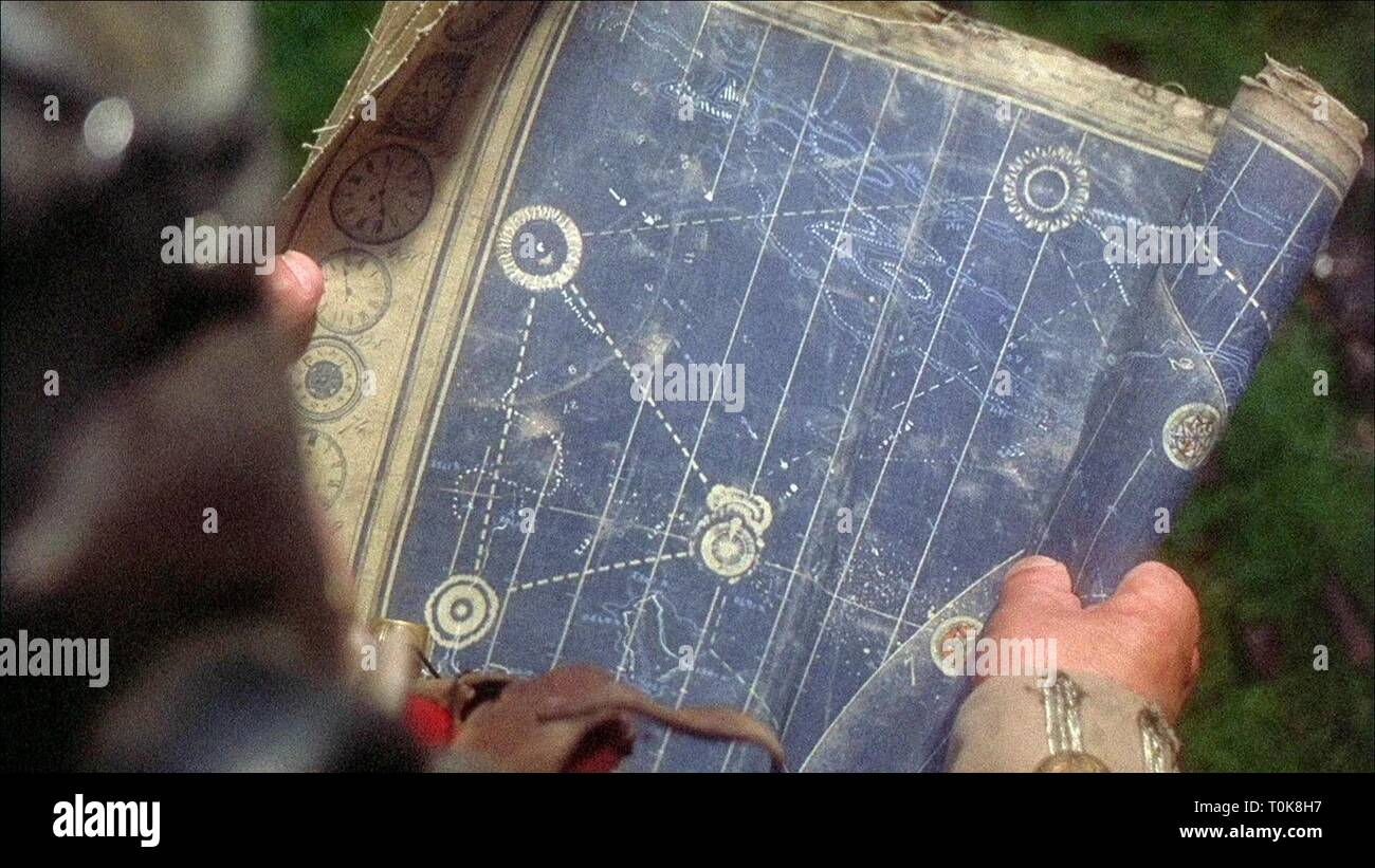 MAP SCENE, TIME BANDITS, 1981 - Stock Image