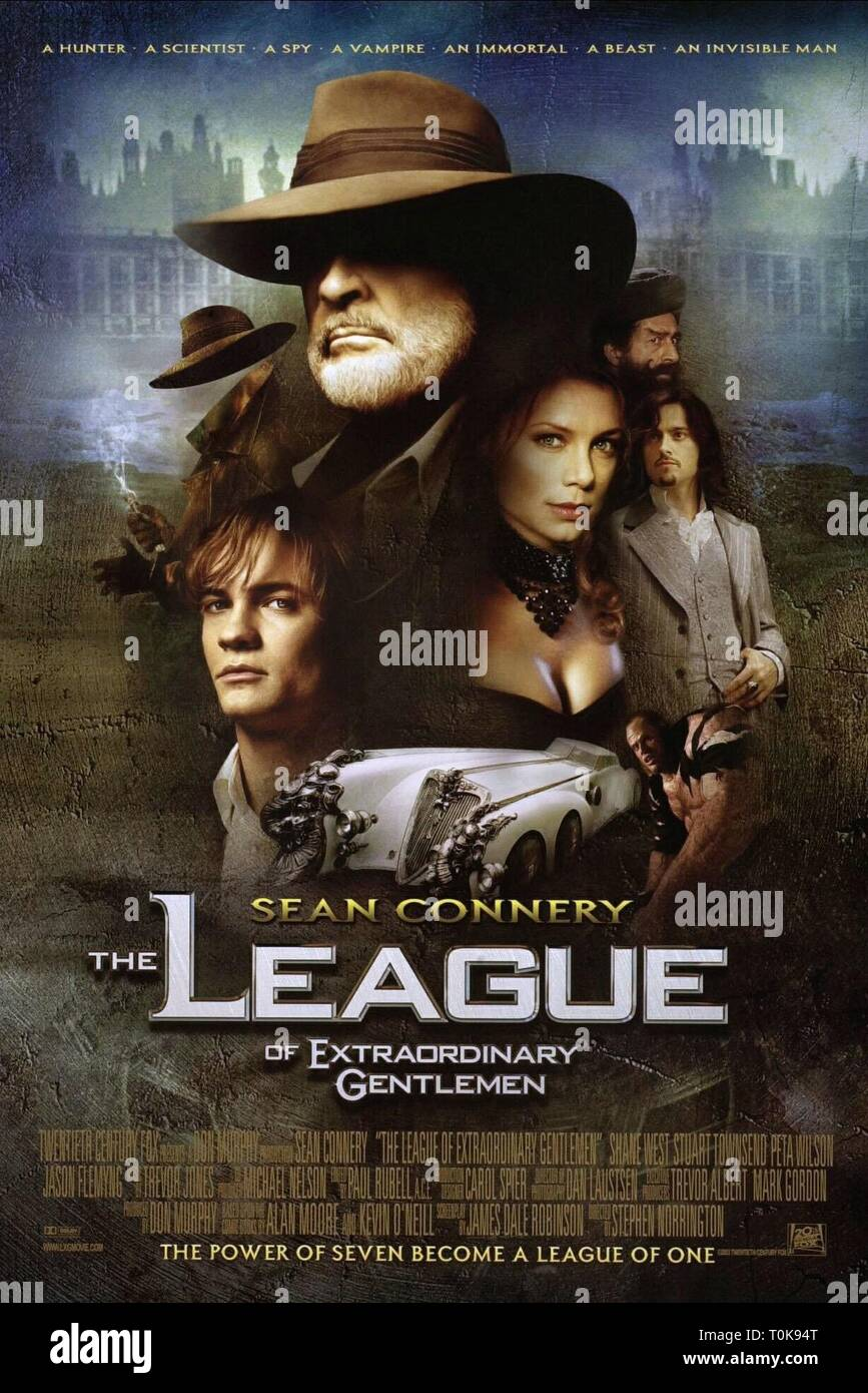 FILM POSTER, THE LEAGUE OF EXTRAORDINARY GENTLEMEN, 2003 - Stock Image