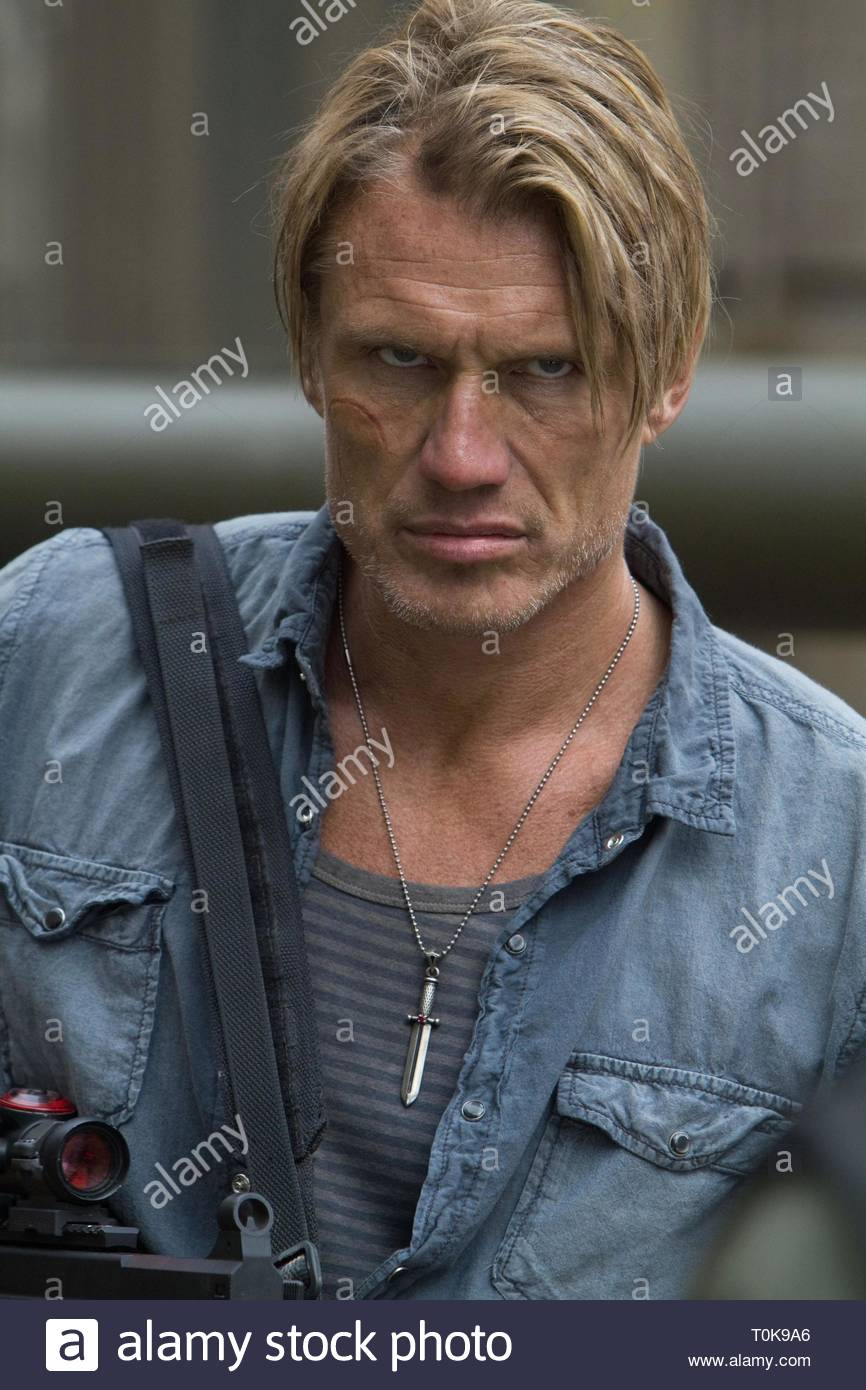 DOLPH LUNDGREN, THE EXPENDABLES 2, 2012 - Stock Image