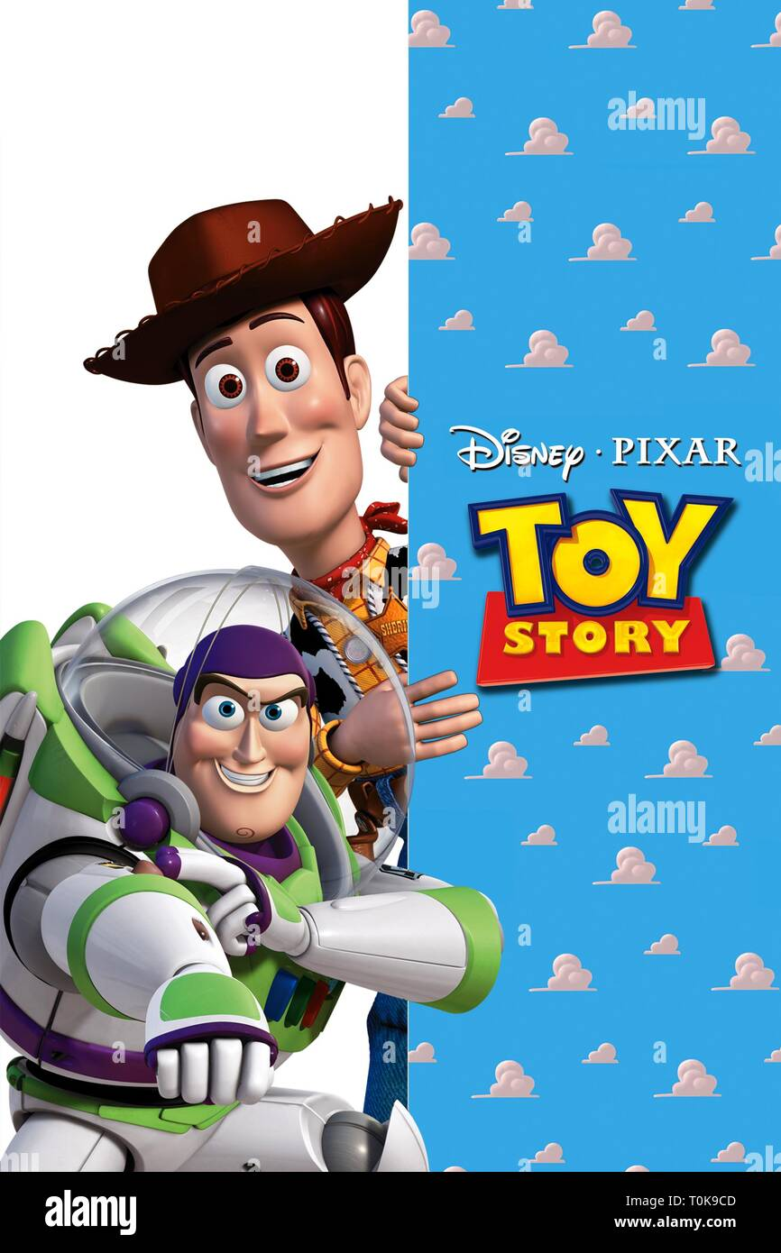BUZZ LIGHTYEAR, WOODY POSTER, TOY STORY, 1995 - Stock Image