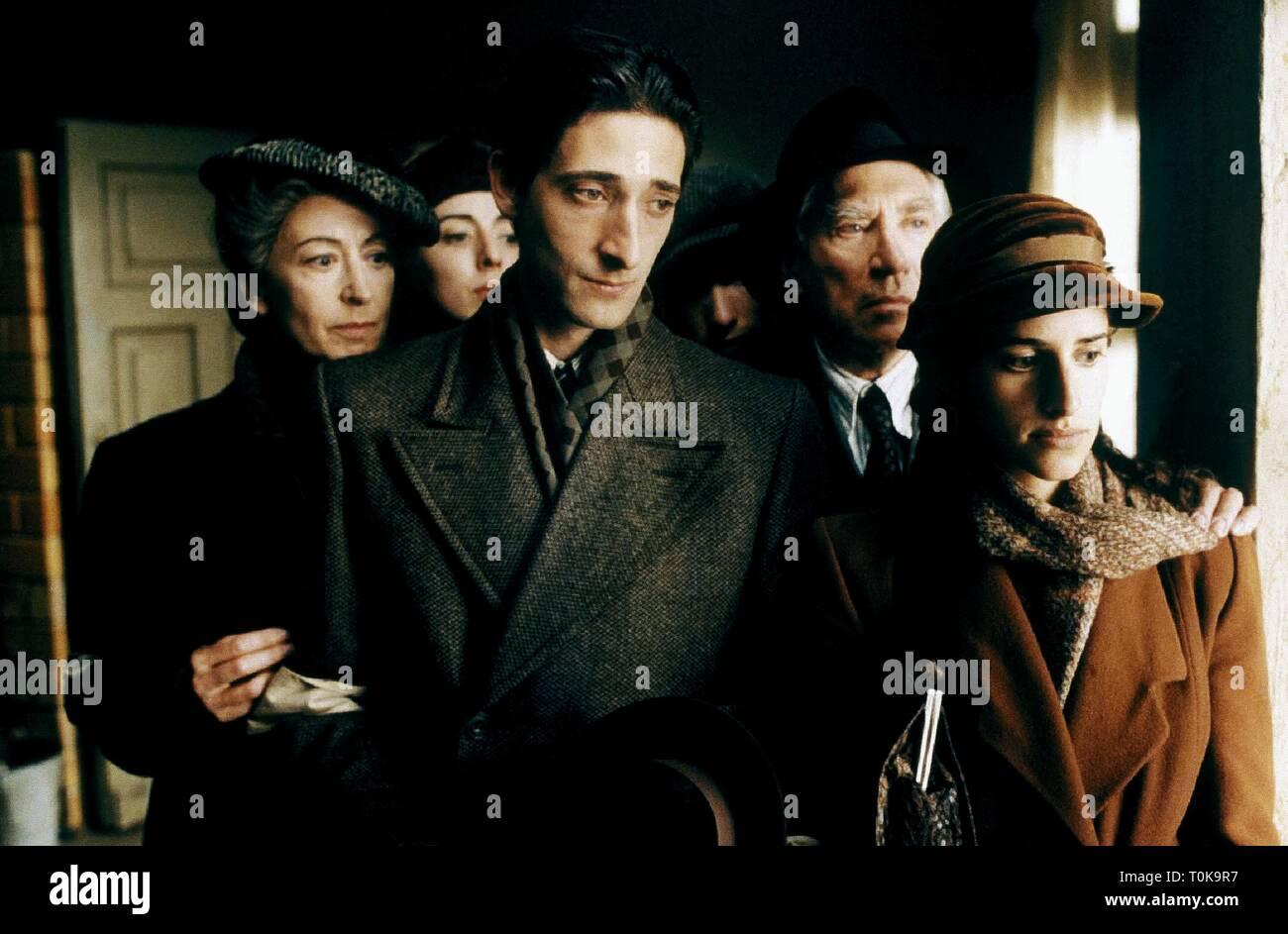 THE PIANIST, MAUREEN LIPMAN, JULIA RAYNER, ADRIEN BRODY, ED STOPPARD, FRANK FINLAY , JESSICA KATE MEYER, 2002 Stock Photo