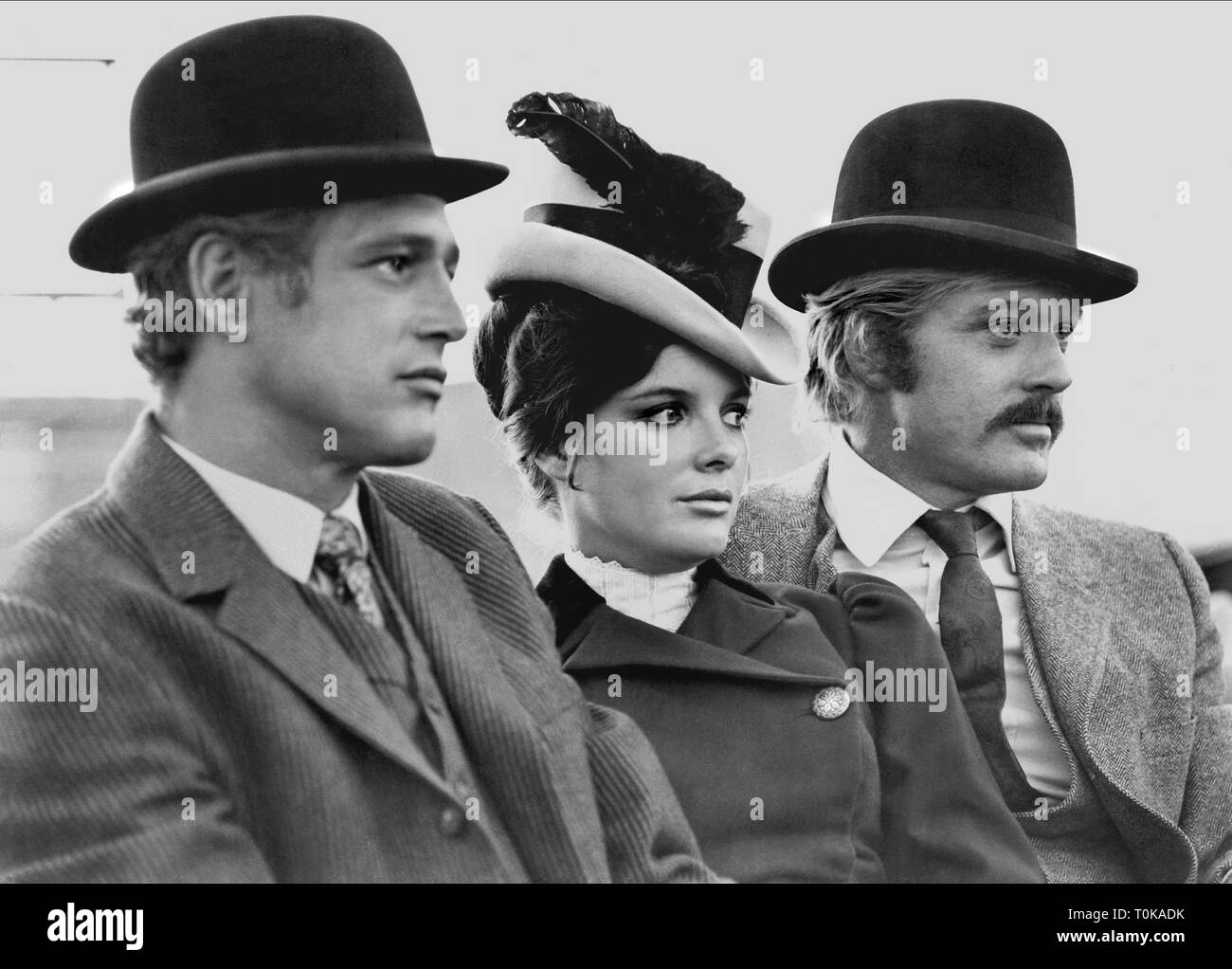 PAUL NEWMAN, KATHARINE ROSS, ROBERT REDFORD, BUTCH CASSIDY AND THE SUNDANCE KID, 1969 - Stock Image