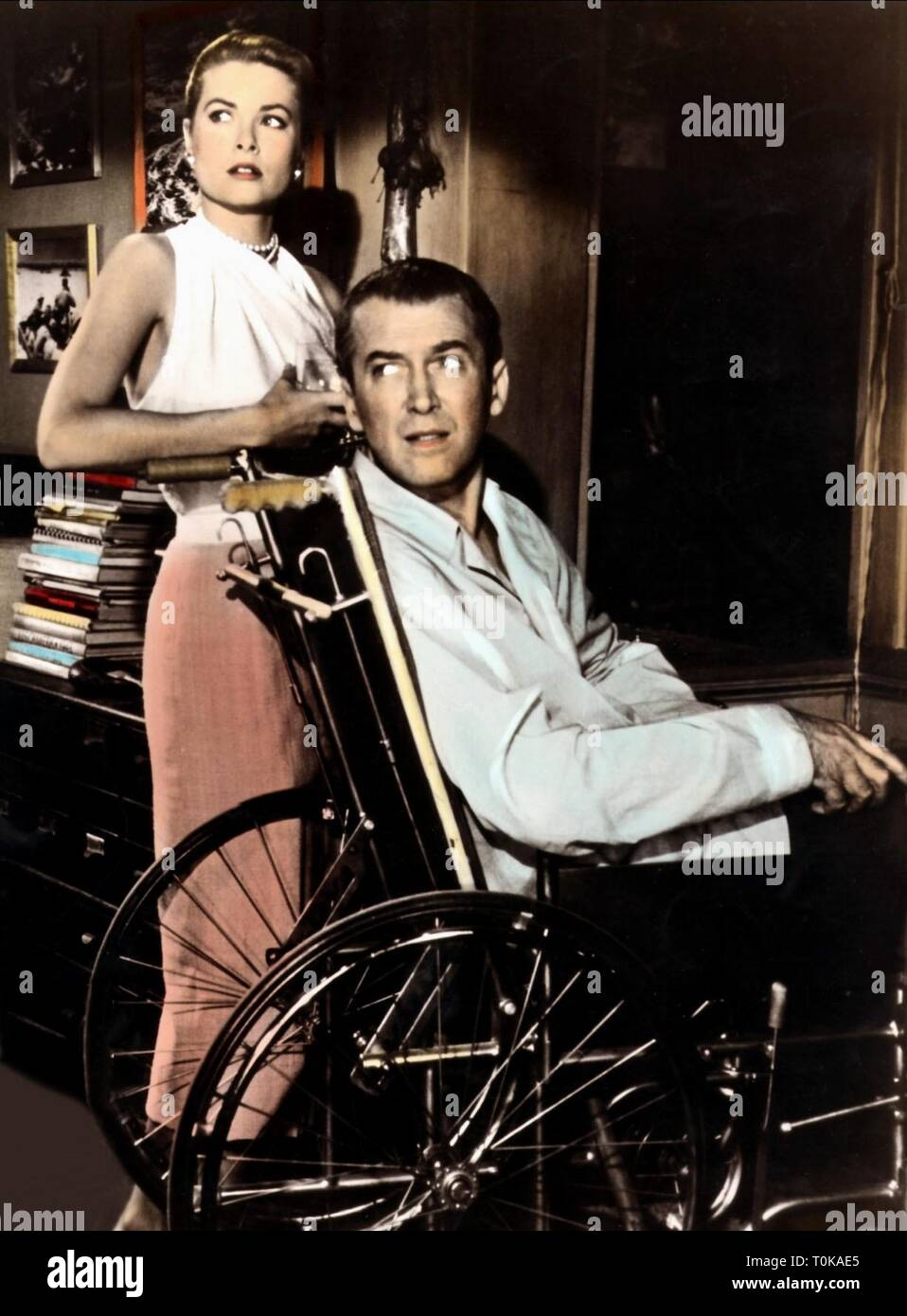 GRACE KELLY, JAMES STEWART, REAR WINDOW, 1954 - Stock Image