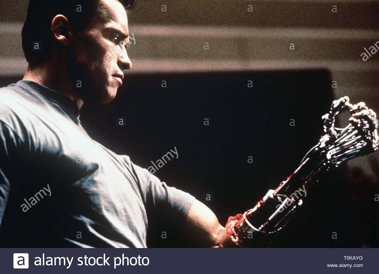 ARNOLD SCHWARZENEGGER, TERMINATOR 2: JUDGMENT DAY, 1991 - Stock Image
