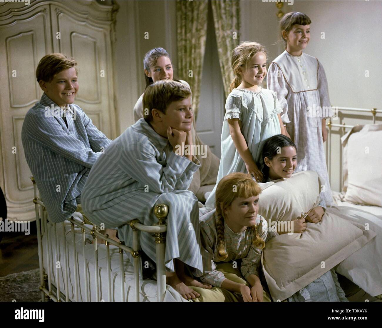 THE SOUND OF MUSIC, CHARMIAN CARR, ANGELA CARTWRIGHT, DUANE CHASE, NICHOLAS HAMMOND, KYM KARATH, HEATHER MENZIES-URICH , DEBBIE TURNER, 1965 - Stock Image