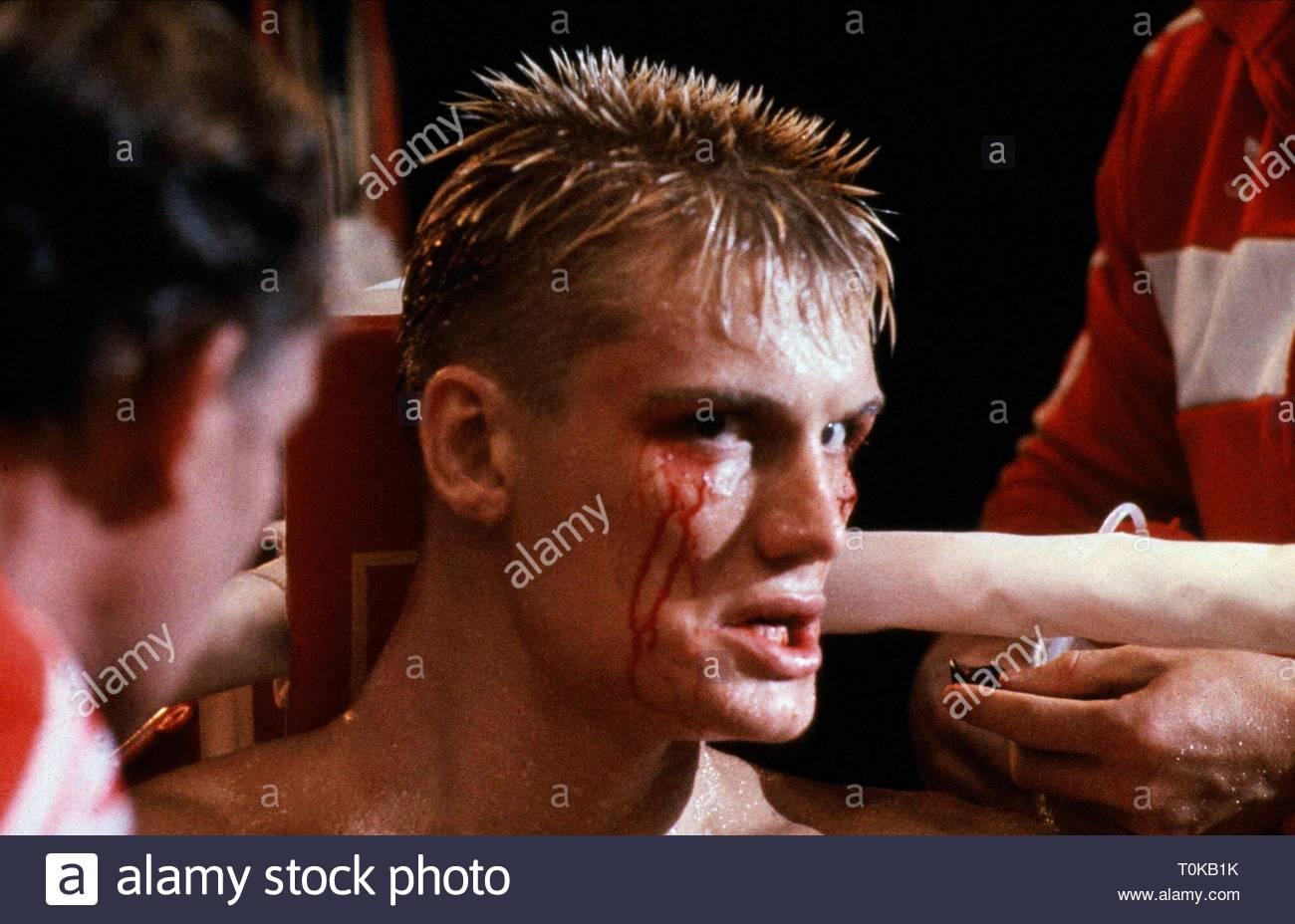 DOLPH LUNDGREN, ROCKY IV, 1985 - Stock Image