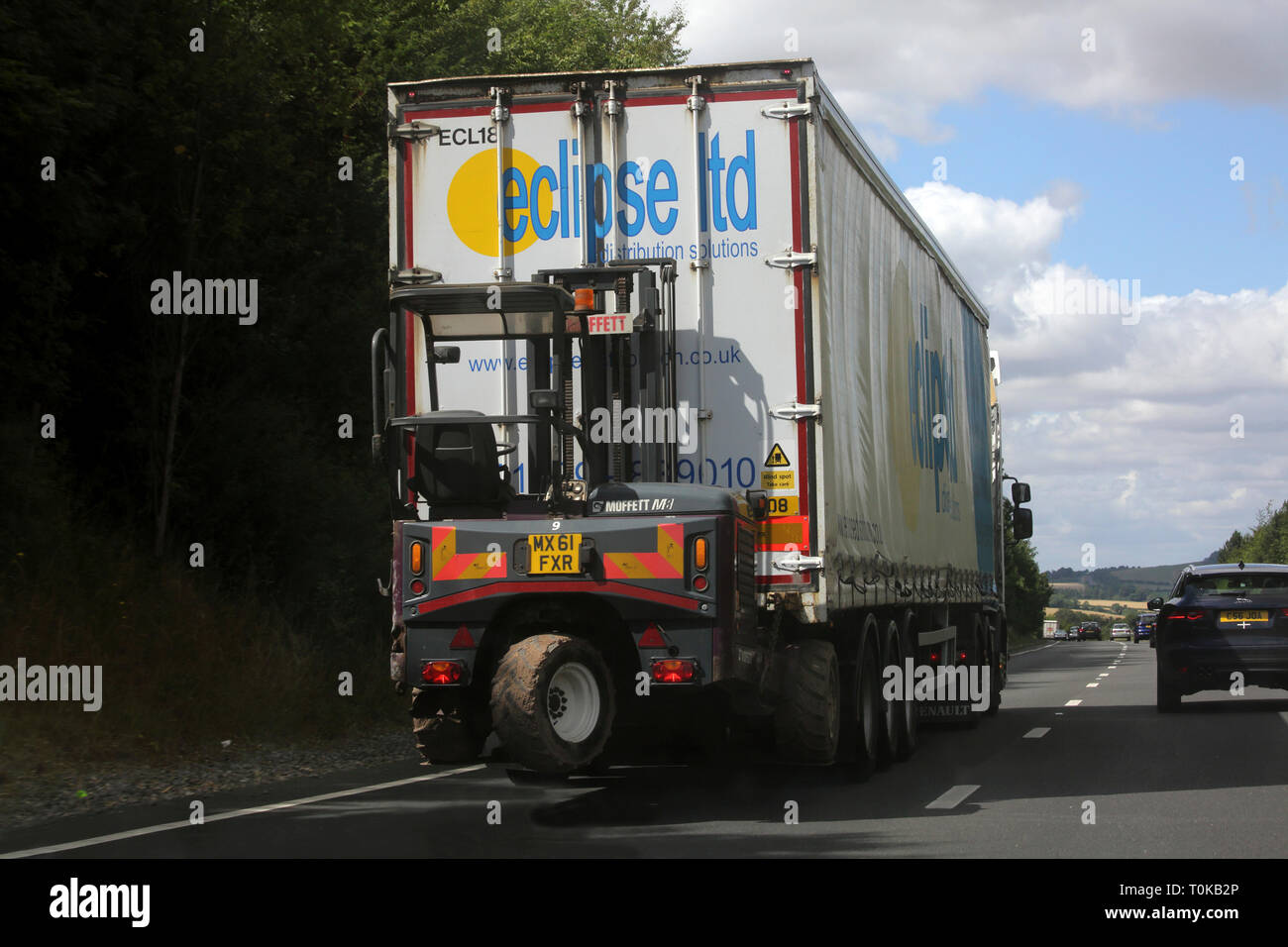 Lorry on the A303 Trunk Road England - Stock Image