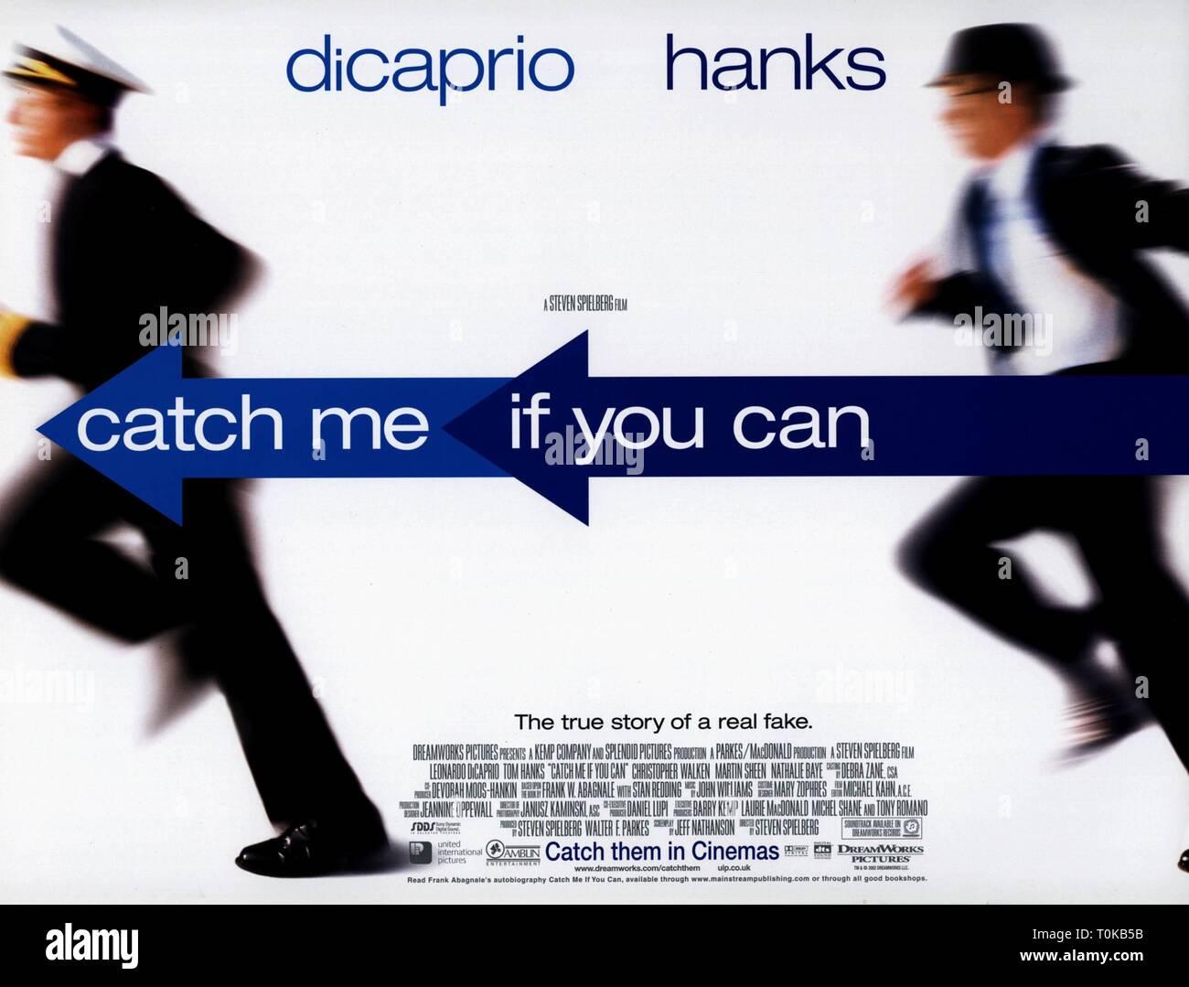 Leonardo Dicaprio Tom Hanks Poster Catch Me If You Can 2002 Stock Photo Alamy