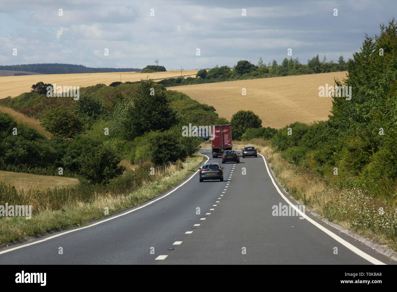 Wiltshire England Cars on the A303 Trunk Road - Stock Image