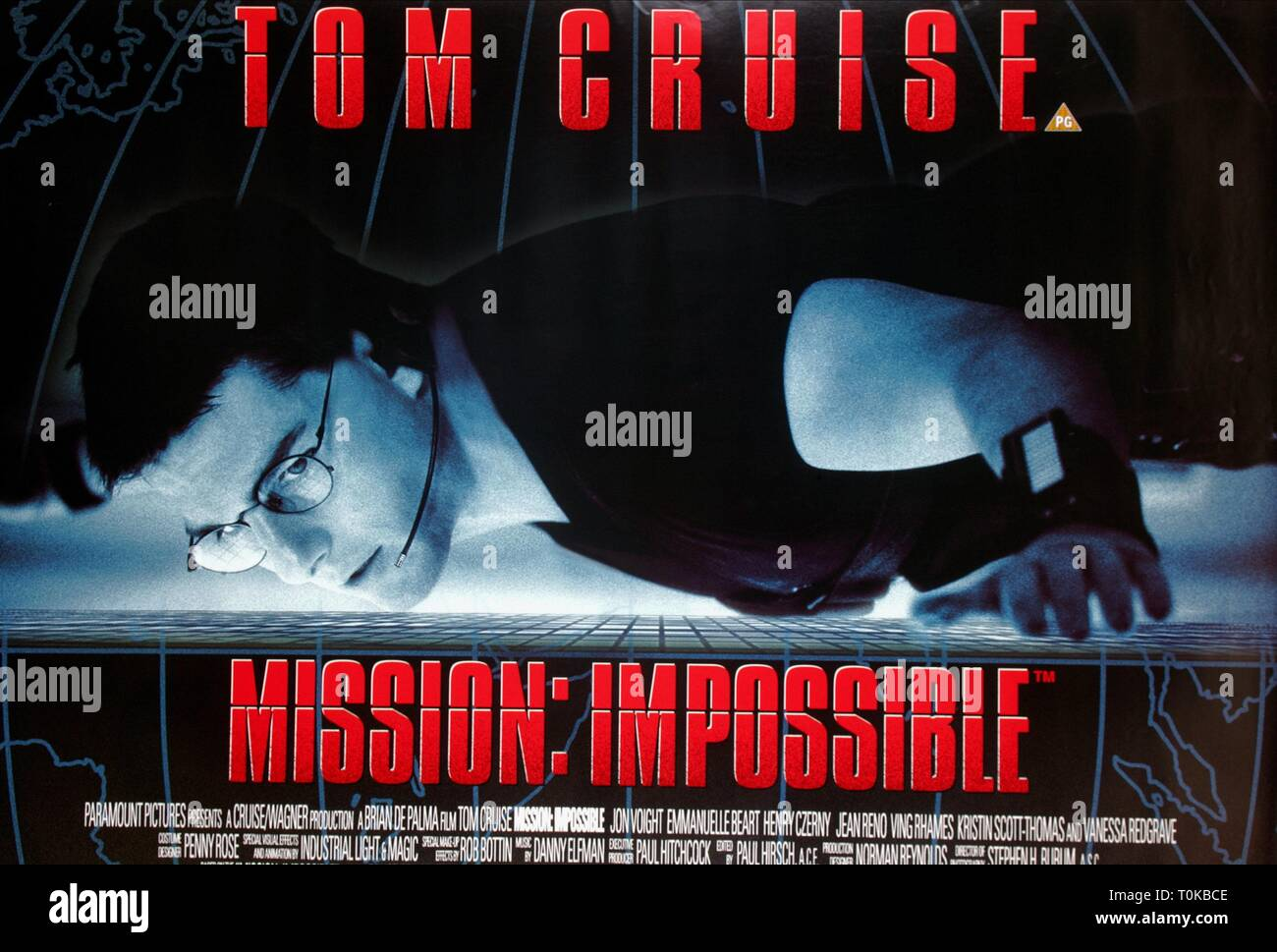 Tom Cruise Poster Mission Impossible 1996 Stock Photo Alamy