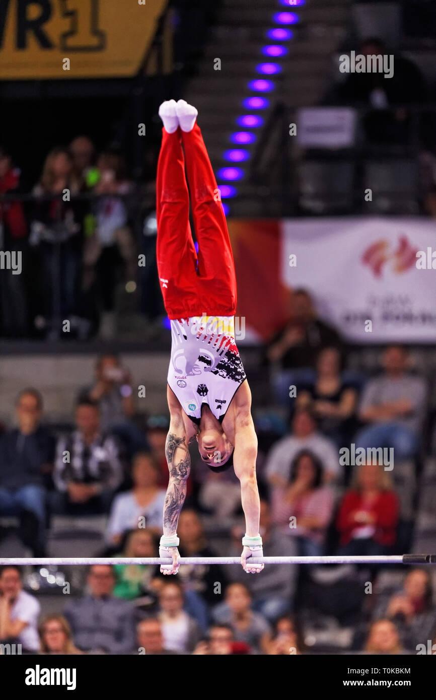 Marcel Nguyen, GER, at the EnBW DTB Pokal Stuttgart, Germany 2019 - Stock Image