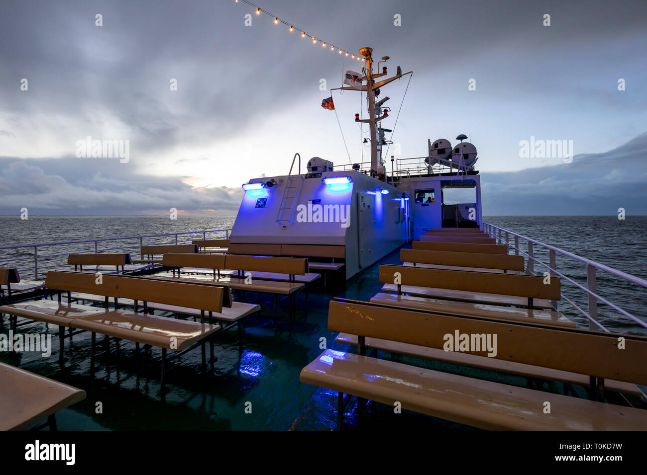 Island Wangerooge, Ostfriesland, ferry to the mainland,East Frisia, Northern Germany, North Sea Coast, - Stock Image