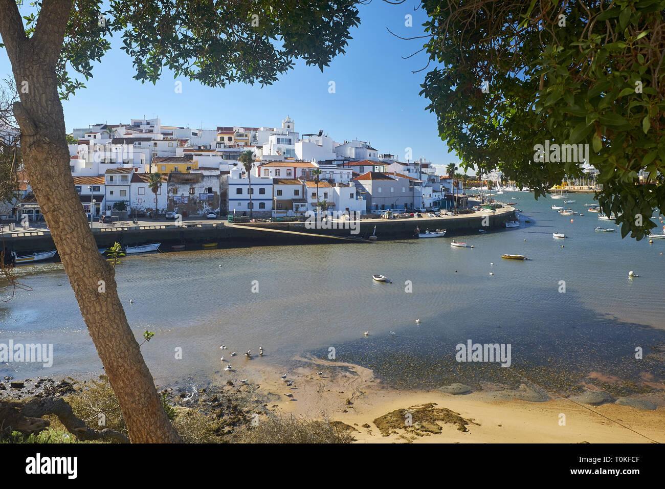 Fishing village Ferragudo, Faro, Algarve, Portugal - Stock Image