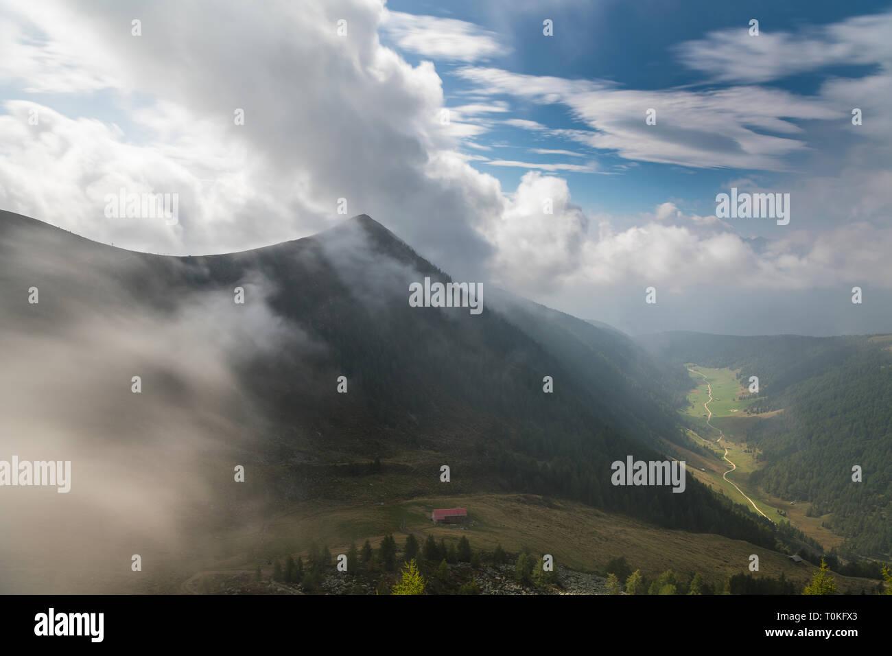 Hike to Seefeldspitze, Valser Tal, Pfunderer Berge, South Tyrol, Italy Stock Photo