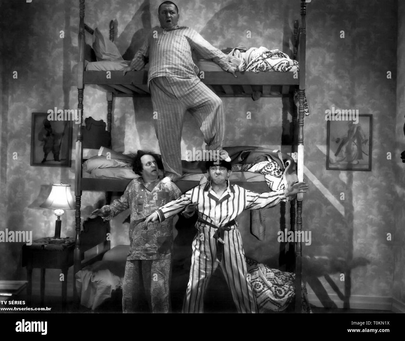 Over half a century since their last short film was released, the Three Stooges remain popular with audiences. Their films have never left American television since first appearing in 1958, and they continue to delight old fans while attracting new viewers. They were a hard-working group of comedians who were never the critics' darlings, a durable act who endured several personnel changes in their careers that would have permanently sidelined a less persistent act. Credit: Hollywood Photo Archive / MediaPunch - Stock Image