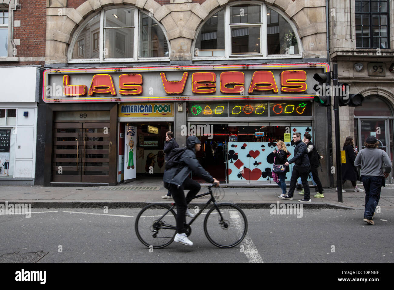 Las Vegas amusement arcade, Wardour Street, Soho, London, England , UK - Stock Image