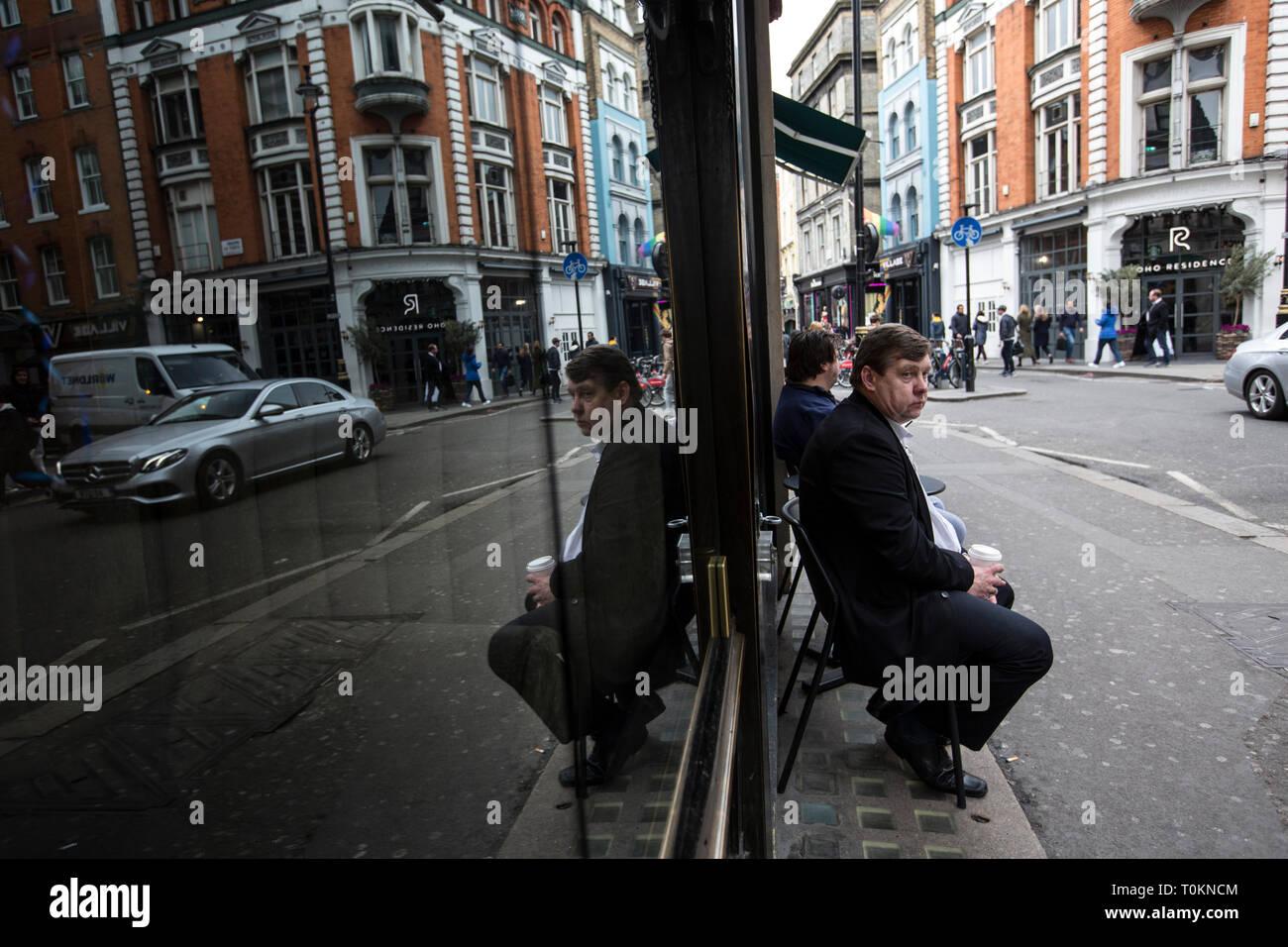 Wardour Street, Soho, London, UK - Stock Image