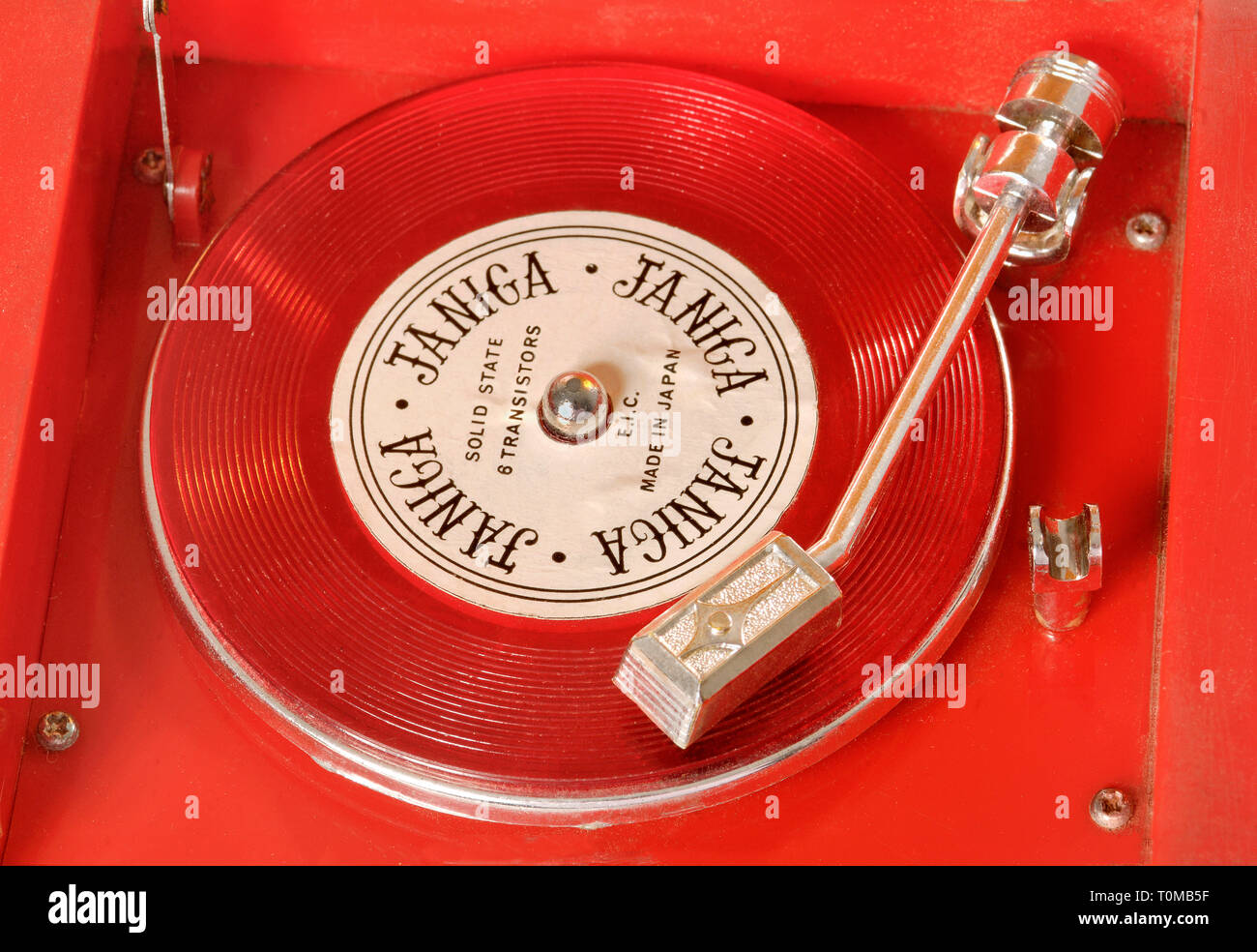 toys, record player, miniature, made by: Janica, Japan, circa 1977, Additional-Rights-Clearance-Info-Not-Available - Stock Image