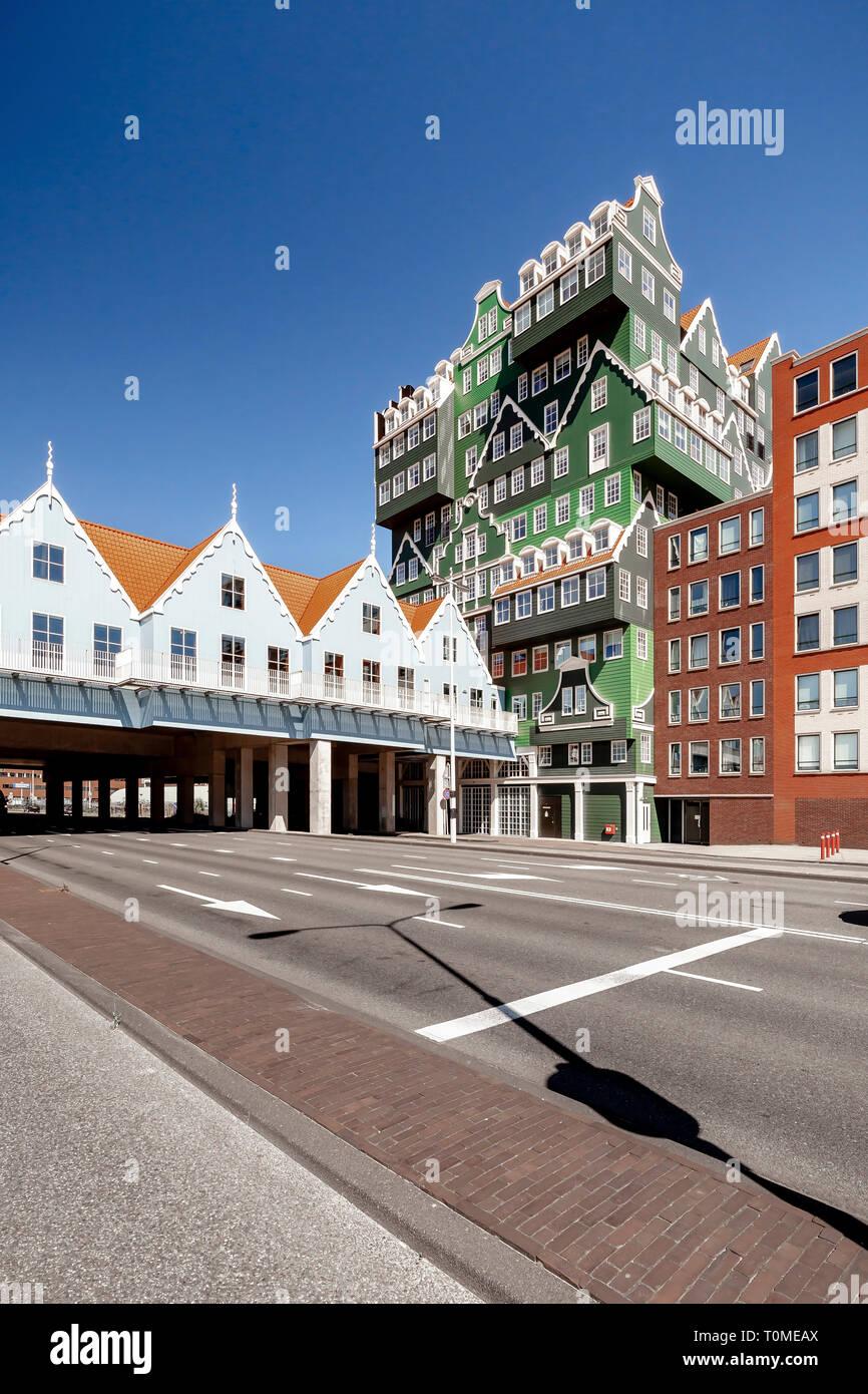 Hotel with exceptional architecture in Zaandam near Amsterdam, Netherlands Stock Photo